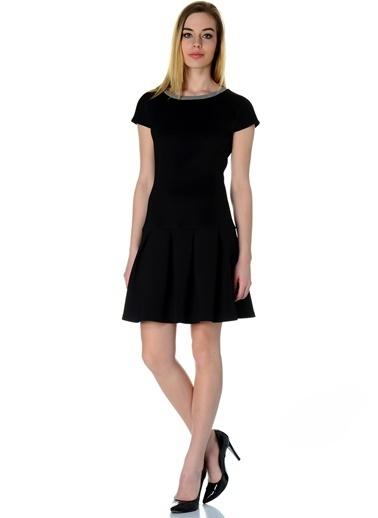 Caramel Elbise Siyah